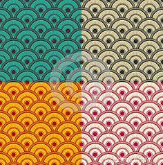 Seamless Japanese Waves Pattern -Vector Stock Vector - Illustration of oriental, kimono: 39451245 Japanese Waves, Japanese Patterns, Print Wallpaper, Wave Pattern, Different Colors, Oriental, Royalty Free Stock Photos, Kimono, Antiques