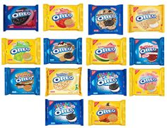 A Comprehensive List of Every Special Oreo Flavor, Ever The definitive list of every special-edition Oreo cookie, ever Weird Oreo Flavors, Cookie Flavors, Candy Corn Cookies, Oreo Cookies, Caramel Apple Cookies, Caramel Apples, Birthday Cake Fudge, Biscuit Oreo, Starbucks