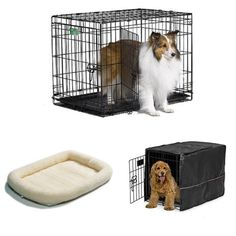 Pet Gear The Other Door Steel Crate With Plush Bolster Bed For Cats And  Dogs NEW. 30 Inch Double Door ICrate With Fleece Bed And Coveru2026