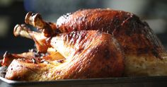 George Mendes's turkey gets a bath in a sweet and salty brine and then dunked into a smoky and boozy marinade.