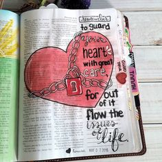 Proverbs 4:23 Scripture Art, Bible Art, Bible Quotes, Book Of Proverbs, Proverbs 4, Bibel Journal, Guard Your Heart, Illustrated Faith, Bible Lessons