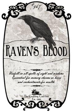 Raven's blood label