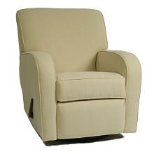 """Silhouette Curve Arm Recliner - Napa Sand Textured Fabric - The Kacy Collection - Babies """"R"""" Us"""
