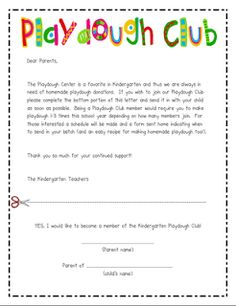playdough club. loooove this idea for parent/family involvement! | mrs. albanese's class.
