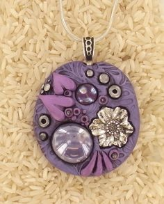 Use oven-friendly bits and pieces from jewelry and craft projects to make a charming, one-of-a-kind pendant.