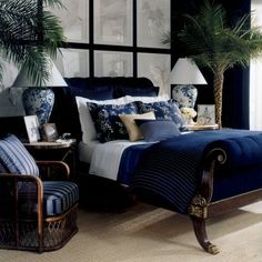 40 navy master bedroom remodel decor ideas bedroom design id Navy Master Bedroom, White Bedroom Design, Blue Bedroom, Trendy Bedroom, Bedroom Colors, Modern Bedroom, Bedroom Decor, Greek Bedroom, Bedroom Ideas