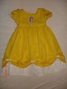 Disney Custom Boutique Princess Belle Dress (-----) Belle Embroidey (-----) 12 Months to Girls Size 8