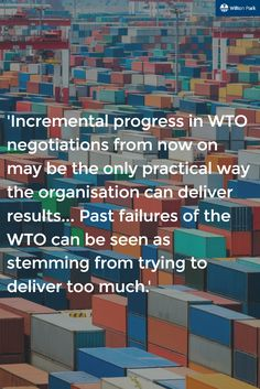 WTO aim to remain the heart of global trade negotiations. What are the key factors for WTOs progression to stay in this position?