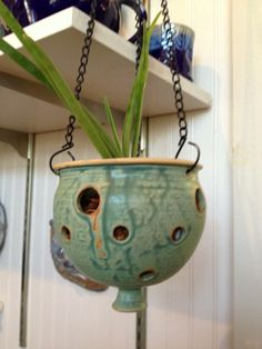 orchid pot from Hannah's Pottery www.hannahspottery.com