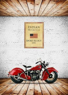 Indian Sport Scout Print featuring the photograph Indian Sport Scout 1941 by Mark Rogan