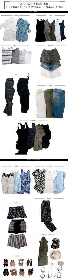 """Capsule wardrobes always interest me, and for maternity this could be extra smart. Could also be a nice training in keeping things simple for when baby is here. Of course, living in yoga pants and tunics is a sort of """"capsule"""" wardrobe, right?"""