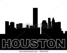 stock photo houston skyline black silhouette on white illustration jpeg