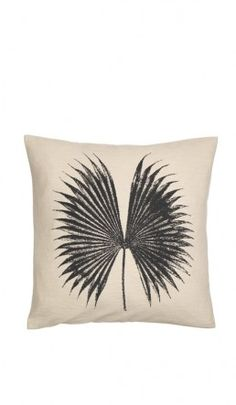Printed palm leaf cushion / pillow