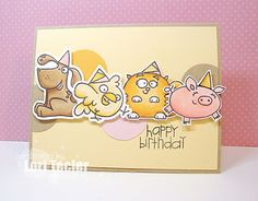 Happy Birthday card-designed by Lori Tecler/Inking Aloud-stamps and dies from Paper Smooches