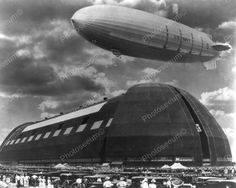 U.S. Navy Zeppelin Docking In Akron Ohio 8x10 Reprint Of Old Photo