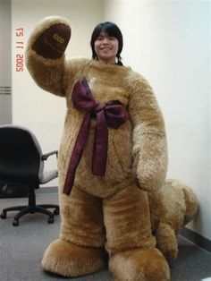 girl as teddy bear mascot unmasked - Google Search