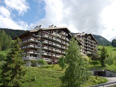 """Hauts de Nendaz O5 - Apartment - NENDAZ - Switzerland - 421 CHF """"Hauts de Nendaz O5"""", 1-room apartment 35 m2 on 1st floor. Beautiful furnishings: living/dining room with 1 sofabed, open-hearth fireplace and cable TV. Exit to the balcony. Alcove, without window wit"""