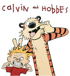 Calvin and Hobbes by Bill Watterson: Bill Watterson's Calvin and Hobbes has been a worldwide favorite since its introduction in 1985. The strip follows the richly imaginative adventures of Calvin and his trusty tiger, Hobbes. Whether a poignant look at serious family issues or a round of time-travel (with the aid of a well-labeled cardboard box), Calvin and Hobbes will astound and delight you. | http://gocomics.com/calvinandhobbes | #comics #calvinandhobbes #kids | © Watterson