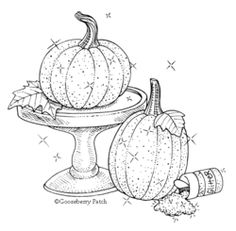 Making Sparkly Pumpkins is fun & easy. Gooseberry Patch.