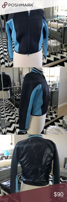 Stella McCartney for Adidos neoprene jacket sos Super cute high end sz s very soft zip front.  Dress up or just wear it to the gym Stella McCartney Jackets & Coats
