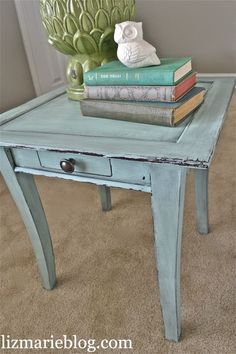 Homemade Chalk Paint: 1C flat paint, 1Tblsp unsanded grout. Mix well & start painting. Sand btwn layers for smooth finish. For distressed look, sand until desired worn look. Finish w/stain & wipe off.