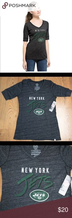 NFL New York Jets 47 Brand Roster Vneck T-Shirt This listing is for a 3d96a47a4
