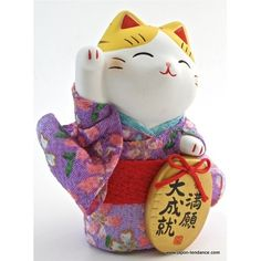 Maneki neko en Kimono voeux