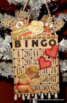 Using my Bingo Stamp Make Valentine Bingo Card - Scrapbook.com