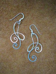 Free Form Sterling Silver Earrings. $16.00, via Etsy.