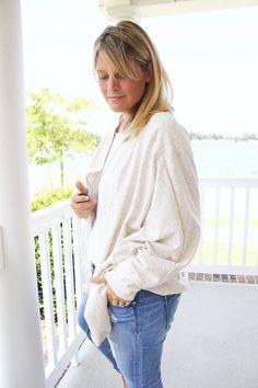 how to sew a slouchy cardigan || slouchy cardigan DIY