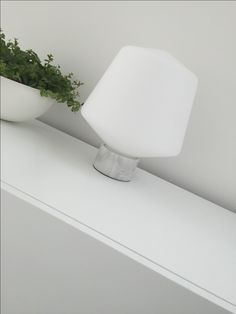 White frosted glass shade with a marble base Hehku