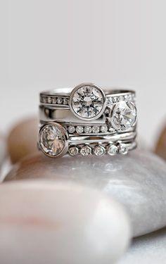 White Gold Luxe Luna Diamond Ring #BrilliantEarth