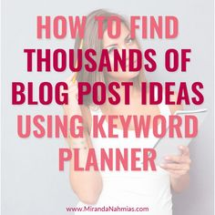 Whenever I use Keyword Planner to generate blog post ideas, I always find more than 1. Usually I find 5-10, but sometimes I strike gold and find 50+ ideas!