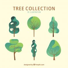 More than a million free vectors, PSD, photos and free icons. Exclusive freebies and all graphic resources that you need for your projects art design landspacing to plant Illustration Design Plat, Children's Book Illustration, Digital Illustration, Vector Illustrations, Urbane Kunst, Vector Trees, Photoshop, Grafik Design, Graphic Design Inspiration