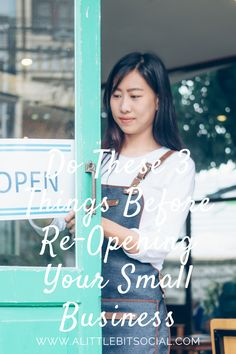 It's been a tough few months for anyone that runs a small business. You need to do these three things before re-opening your small business.
