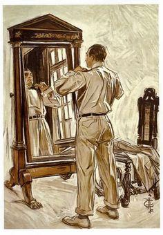 """""""Getting Ready"""" by J.C. Leyendecker"""