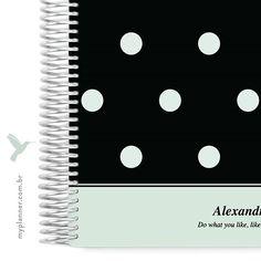 A coleção Dots também está disponível na cor verde, liiinda também né? Corre lá no site e escolha o seu modelo preferido <3 www.myplanner.com.br