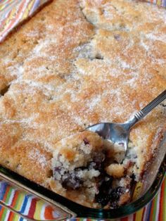 Blueberry Cobbler ... Warm fruit dishes topped with vanilla ice cream are among my most favorite of things in the universe. Two cups of any fruit can be substituted for the blueberries.