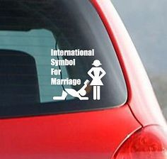 Ordinaire International Symbol For Marriage Car Decal Funny Bumper Sticker Money  Marriage $233,11