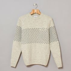 Norse Projects Kirk Natural Knit in Old White