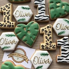 Jungle Safari Birthday Biscuits Cookies Animals Wildlife Personalised Gift Wrapped Party Hey, I foun Safari Theme Birthday, Baby Boy 1st Birthday Party, First Birthday Parties, Birthday Party Themes, First Birthdays, Birthday Ideas, Birthday Photos, Birthday Gifts, Free Happy Birthday