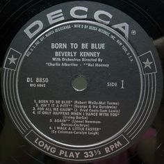 BEVERLY KENNEY Born to be blue_MONO Orig