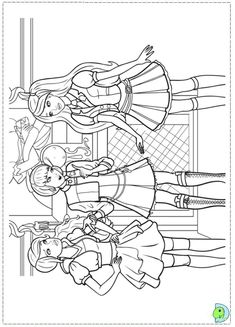 Barbie Coloring Pages Book Sheets For Kids Princess Princesses Colouring In Colors
