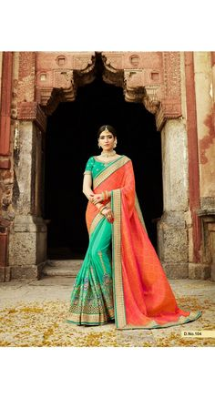 Spiffy Green Color Designer Saree With Heavy Work and Lace Border for Party, Reception, Wedding, Special Occasions