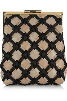 love this marni woven leather satin clutch
