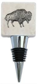 Wine Bottle Stopper with Buffalo on Marble www.classiclegacy.com