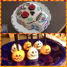 Kate Bakes Cakes: Covering the Creepy Holiday Spectrum in an Entire Day. Let me help you become the envy of your friends at your Halloween party this week with tutorials on how to make a sugar skull cake and Jack O'Lantern and Jack Skellington cake pops in this week's blog! This is Halloween! This is Halloween!