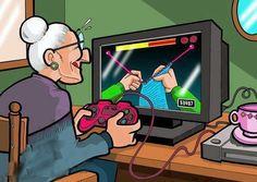 La edad no es pretexto. Miren a esta abuela tan tecnológica