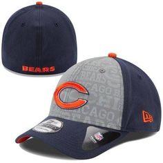 Mens New Era Chicago Bears 2014 NFL Draft 39THIRTY Flex Hat a116d589de06a