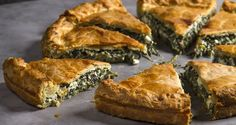 Spinach and Herb Kourou Dough Pie